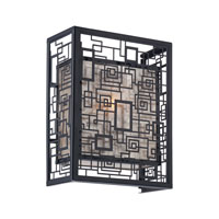 Quoizel Lighting Kenner 1 Light Wall Sconce in Mystic Black KNR8701K