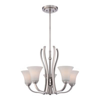Kemper 6 Light 25 inch Brushed Nickel Chandelier Ceiling Light