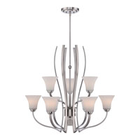 Kemper 10 Light 34 inch Brushed Nickel Chandelier Ceiling Light
