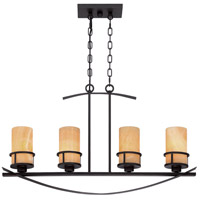 Kyle 4 Light 33 inch Imperial Bronze Island Light Ceiling Light, Naturals