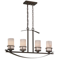 Kyle 4 Light 33 inch Iron Gate Island Chandelier Ceiling Light