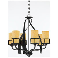 Quoizel KY5006IB Kyle 6 Light 28 inch Imperial Bronze Chandelier Ceiling Light in Butterscotch Onyx Shade, Naturals