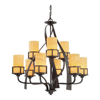 Quoizel KY5009IB Kyle 9 Light 35 inch Imperial Bronze Chandelier Ceiling Light in Butterscotch Onyx Shade alternative photo thumbnail