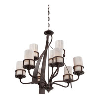 Quoizel KY5009IN Kyle 9 Light 35 inch Iron Gate Chandelier Ceiling Light in White Onyx Shade, Naturals alternative photo thumbnail