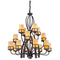 Kyle 16 Light 42 inch Imperial Bronze Chandelier Ceiling Light, Naturals