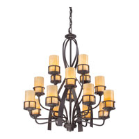 Quoizel KY5016IB Kyle 16 Light 42 inch Imperial Bronze Chandelier Ceiling Light, Naturals alternative photo thumbnail