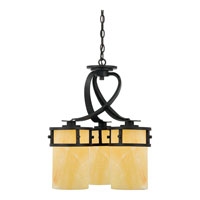 Quoizel KY5103IB Kyle 3 Light 20 inch Imperial Bronze Chandelier Ceiling Light in Butterscotch Onyx Shade alternative photo thumbnail