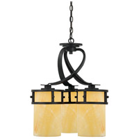Kyle 3 Light 20 inch Imperial Bronze Chandelier Ceiling Light in Butterscotch Onyx Shade