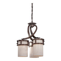 Quoizel KY5103IN Kyle 3 Light 20 inch Iron Gate Chandelier Ceiling Light in White Onyx Shade alternative photo thumbnail