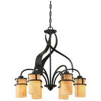 Kyle 6 Light 24 inch Imperial Bronze Dinette Chandelier Ceiling Light, Naturals