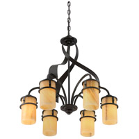 Quoizel KY5106IB Kyle 6 Light 24 inch Imperial Bronze Dinette Chandelier Ceiling Light, Naturals alternative photo thumbnail