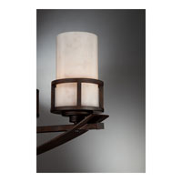 Quoizel KY540IN Kyle 5 Light 40 inch Iron Gate Island Light Ceiling Light in White Onyx Shade alternative photo thumbnail