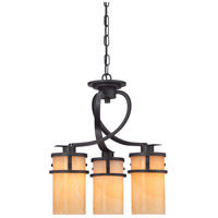 Kyle 3 Light 17 inch Imperial Bronze Chandelier Ceiling Light, Naturals