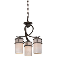 Kyle 3 Light 17 inch Iron Gate Dinette Chandelier Ceiling Light, Naturals