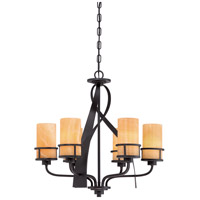 Kyle 6 Light 23 inch Imperial Bronze Chandelier Ceiling Light, Naturals