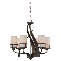Quoizel KY5506IN Kyle 6 Light 23 inch Iron Gate Dinette Chandelier Ceiling Light, Naturals