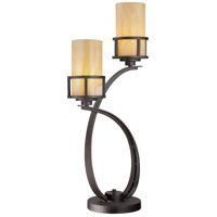 Quoizel Lighting Kyle 2 Light Table Lamp in Imperial Bronze KY6328IB