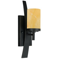 Quoizel KY8701IB Kyle 1 Light 5 inch Imperial Bronze Wall Sconce Wall Light in Butterscotch Onyx Shade, Naturals