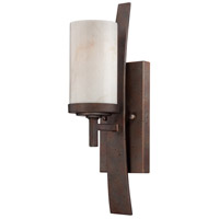 Kyle 1 Light 5 inch Iron Gate Wall Sconce Wall Light in White Onyx Shade, Naturals