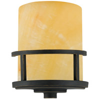 Kyle 1 Light 9 inch Imperial Bronze Wall Sconce Wall Light in Butterscotch Onyx Shade