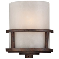 Quoizel KY8801IN Kyle 1 Light 9 inch Iron Gate Wall Sconce Wall Light in White Onyx Shade, Naturals