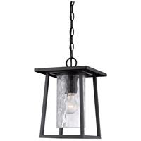 Quoizel LDG1909K Lodge 1 Light 10 inch Mystic Black Outdoor Hanging Lantern