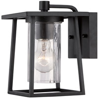 Lodge 1 Light 9 inch Mystic Black Outdoor Wall Lantern in Standard