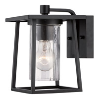 Lodge 1 Light 9 inch Mystic Black Outdoor Wall Lantern in Fluorescent