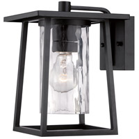 Lodge 1 Light 11 inch Mystic Black Outdoor Wall Lantern in Standard