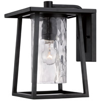 Lodge 1 Light 13 inch Mystic Black Outdoor Wall Lantern in Standard