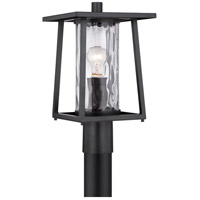 Quoizel Lodge 1 Light Post Lantern in Mystic Black LDG9009K