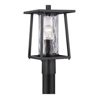 Quoizel Lodge 1 Light Outdoor Post Lantern in Mystic Black LDG9009KFL