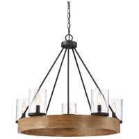 Quoizel LGE5005GK Lounge 5 Light 28 inch Grey Ash Chandelier Ceiling Light