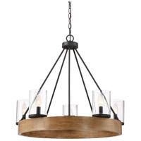 Quoizel LGE5005GK Lounge 5 Light 28 inch Grey Ash Chandelier Ceiling Light