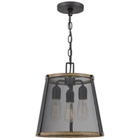 Quoizel LIM1513MBK Lindstrom 3 Light 13 inch Matte Black Mini Pendant Ceiling Light