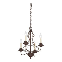 Quoizel Lighting Laila 4 Light Chandelier in Rustic Antique Bronze LLA5004RA alternative photo thumbnail