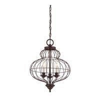 Quoizel LLA5203RA Laila 3 Light 15 inch Rustic Antique Bronze Chandelier Ceiling Light
