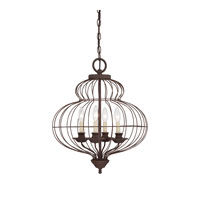 Laila 4 Light 19 inch Rustic Antique Bronze Chandelier Ceiling Light