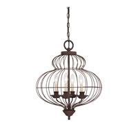 Quoizel LLA5204RA Laila 4 Light 19 inch Rustic Antique Bronze Chandelier Ceiling Light