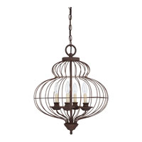 Quoizel LLA5204RA Laila 4 Light 19 inch Rustic Antique Bronze Chandelier Ceiling Light  alternative photo thumbnail