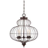 Laila 5 Light 22 inch Rustic Antique Bronze Chandelier Ceiling Light