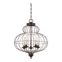 Quoizel Lighting Laila 5 Light Chandelier in Rustic Antique Bronze LLA5205RA alternative photo thumbnail