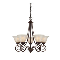 Quoizel Lighting Lillian 5 Light Chandelier in Palladian Bronze LLN5005PN