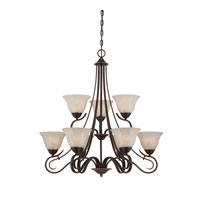 Quoizel Lighting Lillian 9 Light Chandelier in Palladian Bronze LLN5009PN