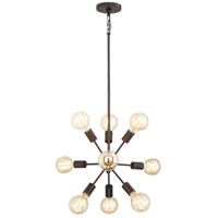 Limelight 9 Light 24 inch Palladian Bronze Chandelier Ceiling Light