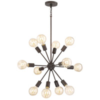 Quoizel LMT5012PN Limelight 12 Light 28 inch Palladian Bronze Chandelier Ceiling Light