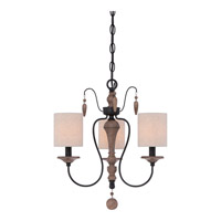 Quoizel Lena 3 Light Chandelier in Mystic Black LNA5003K