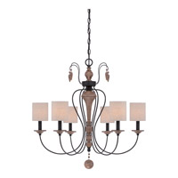 Quoizel Lena 6 Light Chandelier in Mystic Black LNA5006K