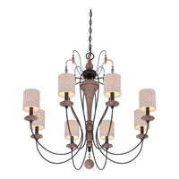 Quoizel Lena 8 Light Chandelier in Mystic Black LNA5008K