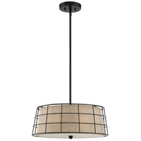 Quoizel Landings 4 Light Pendant in Mottled Cocoa LND2820MC